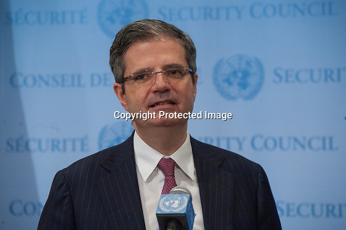 President of the Security Council Briefs Press on Security Council Consultations<br /> François Delattre, Permanent Representative of France to the UN and President of the Security Council for the month of March, speaks to the press following Security Council consultations on the situation in Sudan and South Sudan.