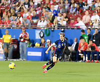 FRISCO, TX - MARCH 11: Megan Rapinoe #15 of the United States passes the ball in the first half against Japan during a game between Japan and USWNT at Toyota Stadium on March 11, 2020 in Frisco, Texas.