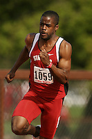 4 April 2007: Myles Bradley during the Stanford Invitational at Cobb Track and Angell Field in Stanford, CA.