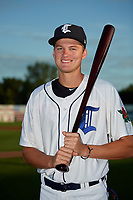 Connecticut Tigers Parker Meadows (12) poses for a photo before a game against the Hudson Valley Renegades on August 20, 2018 at Dodd Stadium in Norwich, Connecticut.  Hudson Valley defeated Connecticut 3-1.  (Mike Janes/Four Seam Images)