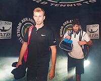 ABN AMRO World Tennis Tournament, Rotterdam, The Netherlands, 14 februari, 2017, Glenn Smit (NED), Robin Haase (NED)<br /> Photo: Henk Koster