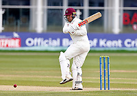 Adam Rossington bats for Northants during Kent CCC vs Northamptonshire CCC, LV Insurance County Championship Group 3 Cricket at The Spitfire Ground on 6th June 2021