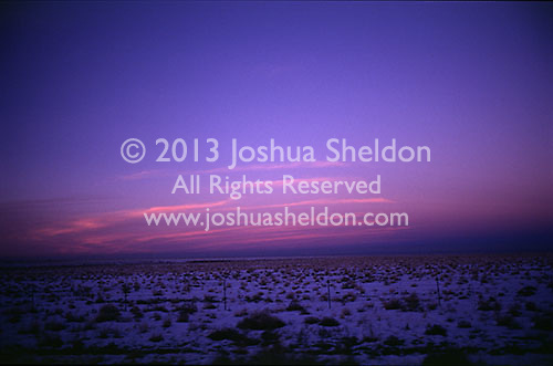 Sunset over desert<br />