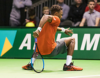 Rotterdam, The Netherlands, 13 Februari 2019, ABNAMRO World Tennis Tournament, Ahoy,  Gael Monfils (FRA)<br /> Photo: www.tennisimages.com/Henk Koster
