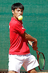 Japan's Toru Horie during Junior Davis Cup 2015 match. September  30, 2015.(ALTERPHOTOS/Acero)