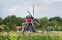 Nederland Oud-Zuilen - 2020. Wipmolen in de polder. De Buitenwegse Molen aan de Vecht.  Foto Berlinda van Dam / Hollandse Hoogte