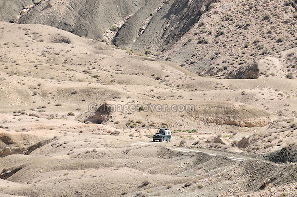 Africa, Tunisia, nr. Saket. Land Rover Series 2a ascending from the famous narrow gorge near Saket. --- No releases available, but releases may not be needed for certain uses. Automotive trademarks are the property of the trademark holder, authorization may be needed for some uses.