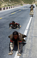 Images from the Book Journey Through Color and Time,Pilgrims on the road to Lhasa, Tibet