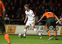 Pictured: Alan Tate of Swansea City in action<br /> Picture by D Legakis / Athena Picture Agency, Swansea, 07815441513