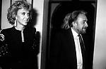 ROBERTA BALSAMO CON UGO TOGNAZZI<br /> FESTA DONINA CICOGNA A VILLA MARZOTTO ROMA 1975