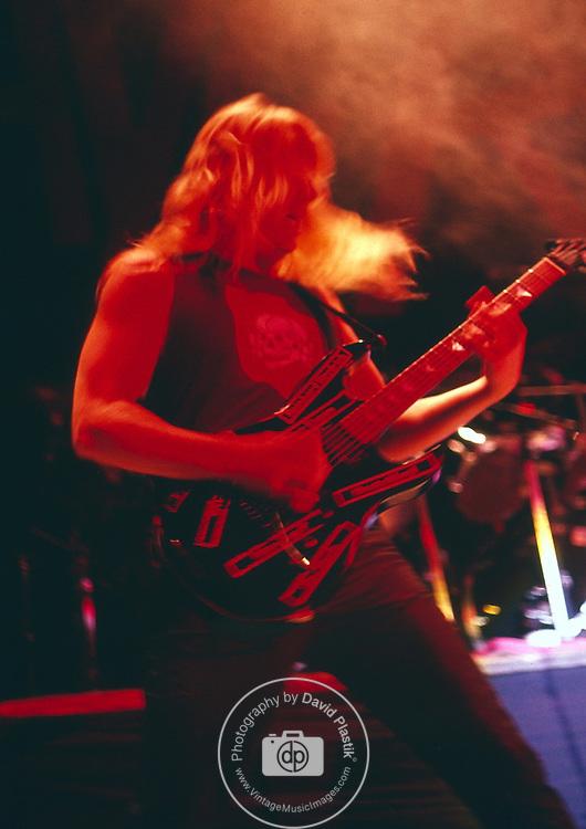 Slayer, jeff hanneman, Photo By David Plastik/IconicPix 1988 Los Angeles