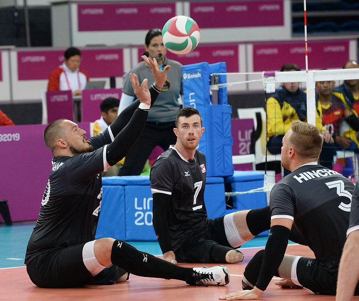 Jesse Buckingham, Doug Learoyd, and Austin Hinchey, Lima 2019 - Sitting Volleyball // Volleyball assis.<br />