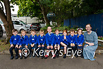 35 b2s Killorglin 2 <br /> <br /> Miss O'Sullivan's Junior Infants class in Scoil Mhuire, Killorglin pictured with Bronagh Murphy standing in for Julie O'Sullivan on the day.