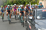 The start of Stage 2 of the Route d'Occitanie 2020, running 174.5km from Carcassone to Cap Découverte, France. 2nd August 2020. <br /> Picture: Colin Flockton | Cyclefile<br /> <br /> All photos usage must carry mandatory copyright credit (© Cyclefile | Colin Flockton)