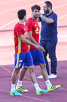 Spanish player Marcc Bartra and Javi Martinez durign the first training of the concentration of Spanish football team at Ciudad del Futbol de Las Rozas before the qualifying for the Russia world cup in 2017 August 29, 2016. (ALTERPHOTOS/Rodrigo Jimenez) /NORTEPHOTO