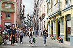 Spain, Canary Islands, La Palma, Santa Cruz de La Palma: capital - old town, Placeta de Borrero