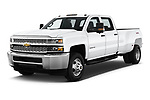 2019 Chevrolet Silverado-3500 WT 4 Door Pick Up angular front stock photos of front three quarter view