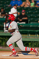 D'Marcus Ingram of the Palm Beach Cardinals during the game at Jackie Robinson Ballpark in Daytona Beach, Florida on July 27, 2010. Photo By Scott Jontes/Four Seam Images