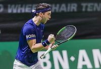Rotterdam, Netherlands, 10 februari, 2018, Ahoy, Tennis, ABNAMROWTT,  Supermatch semifinal: Jesse Timmermans (NED)<br />