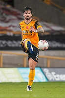 30th October 2020; Molineux Stadium, Wolverhampton, West Midlands, England; English Premier League Football, Wolverhampton Wanderers versus Crystal Palace; Rubén Neves of Wolverhampton Wanderers passes the ball through midfield