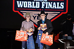 Paden Prior, Cael Stratton, during the Team Roping Back Number Presentation at the Junior World Finals. Photo by Andy Watson. Written permission must be obtained to use this photo in any manner.