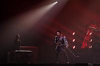 SÃO PAULO, SP 30.05.2019: QUEEN-SP - A banda The Queen Extravaganza, tributo produzido pelos próprios Brian May e Roger Taylor, se apresentou na noite desta quinta-feira (30), no Espaço das Américas, zona oeste da capital paulista. A banda é formada pelo brasileiro Alírio Netto nos vocais, Tyler Warren (EUA) na bateria, François-Oliver Doyon (Canadá) no baixo, Brian Gresh (EUA) na guitarra e Darren Reeves (Inglaterra) nos teclados.. (Foto: Ale Frata/Codigo19)