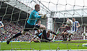 Hearts' Calum Paterson scores their fifth goal.