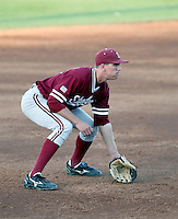 Stephen Piscotty #25 of the Stanford Cardinal plays against the Arizona State Sun Devils on April 29, 2011 at Packard Stadium, Arizona State University, in Tempe, Arizona. .Photo by:  Bill Mitchell/Four Seam Images.