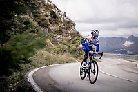 Remi Cavagna (FRA/Deceuninck - QuickStep) training up the Coll de Rates during the january 2020 Team Deceuninck-QuickStep training camp in Calpe, Spain<br />  <br /> ©kramon