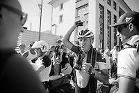 Jérome Pinaut (FRA/IAM) needing to cool down after the first really hot stage<br /> <br /> 2014 Tour de France<br /> stage 12: Bourg-en-Bresse - Saint-Etiènne (185km)
