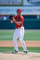 Rochester Red Wings starting pitcher Kohl Stewart (47) gets ready to deliver a pitch during a game against the Lehigh Valley IronPigs on July 1, 2018 at Frontier Field in Rochester, New York.  Rochester defeated Lehigh Valley 7-6.  (Mike Janes/Four Seam Images)