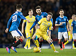 Rangers v St Johnstone…01.03.17     SPFL    Ibrox<br />Danny Swanson gets bewteen Jon Toral and Emerson Hyndman<br />Picture by Graeme Hart.<br />Copyright Perthshire Picture Agency<br />Tel: 01738 623350  Mobile: 07990 594431