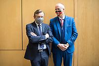 """Konstituierung des 3. Untersuchungsausschusses der 19. Wahlperiode (""""Wirecard"""") am <br /> Donnerstag den 8. Oktober 2020.<br /> Nach dem Zusammenbruch des Finanzunternehmens Wirecard hatten die Mitglieder des Deutschen Bundestag die Einsetzung des Wirecard-Untersuchungsausschuss beschlossen. Bundestagspraesident Wolfgang Schaeuble eroeffnete die konstituierende Sitzung.<br /> Im Bild: <br /> 8.10.2020, Berlin<br /> Copyright: Christian-Ditsch.de"""
