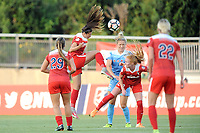 Boyds, MD - Saturday August 26, 2017: Arielle Ship, Kristie Mewis, Tori Huster during a regular season National Women's Soccer League (NWSL) match between the Washington Spirit and the Chicago Red Stars at Maureen Hendricks Field, Maryland SoccerPlex.