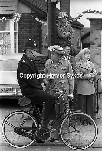 Silver Jubilee Street Party 1977 Barking east London. UK