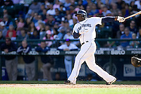 September 28, 2008: Seattle Mariners Yuniesky Bentancourt at-bat during a game against the Oakland Athletics at Safeco Field in Seattle, Washington.