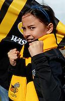 Photo: Richard Lee/Richard Lane Photography. Aviva Premiership. Newcastle Falcons v Wasps. 27/03/2016. Wasps supporter.