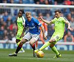05.05.2019 Rangers v Hibs: Scott Arfield and Lewis Stevenson