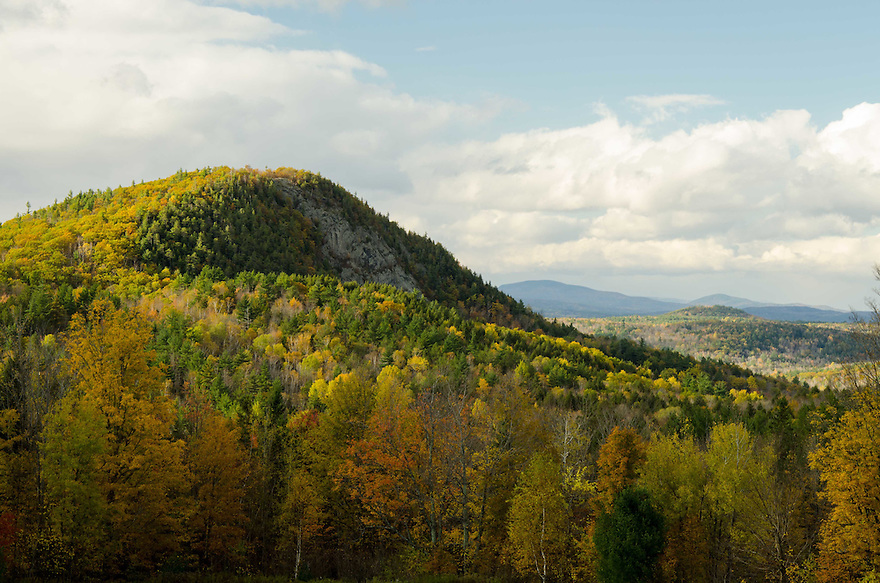 Unsettled weather over Piermonts' Peaked Mountain in western New Hampshire.