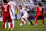 Ehsan Haji Safi of Iran (C) battles for the ball with Phan Van Duc of Vietnam during the AFC Asian Cup UAE 2019 Group D match between Vietnam (VIE) and I.R. Iran (IRN) at Al Nahyan Stadium on 12 January 2019 in Abu Dhabi, United Arab Emirates. Photo by Marcio Rodrigo Machado / Power Sport Images