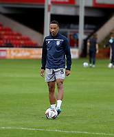 10th October 2020; Bescot Stadium, Wallsall, West Midlands, England; English Football League Two, Walsall FC versus Colchester United; Cohen Bramall of Colchester United warming up