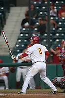 Jeremy Martinez (2) of the Southern California Trojans bats during a game against the Washington State Cougars at Dedeaux Field on March 13, 2015 in Los Angeles, California. Southern California defeated Washington State, 10-3. (Larry Goren/Four Seam Images)