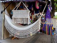 Hammock, Baby Crib, for Sale in a Souvenir Shop.  Playa del Carmen, Riviera Maya,  Yucatan, Mexico.