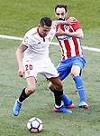 Atletico de Madrid's Juanfran Torres (r) and Sevilla FC's Vitolo during La Liga match. March 19,2017. (ALTERPHOTOS/Acero)