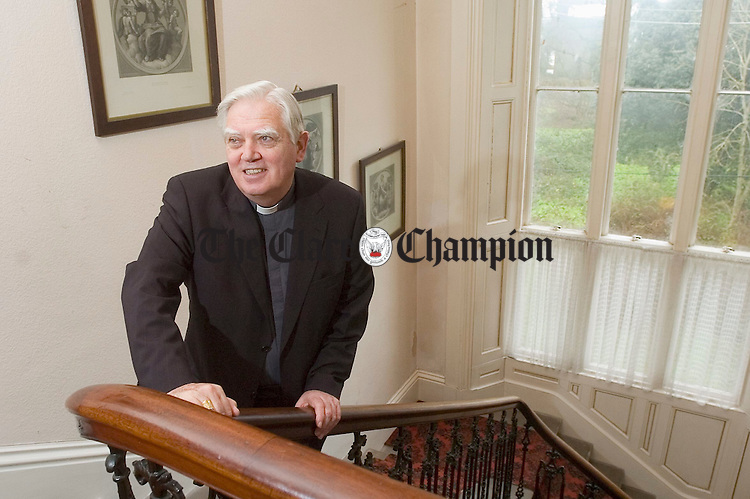 Bishop Willie Walsh at home in in Westbourne. Photograph by John Kelly.