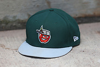 Fort Wayne TinCaps hat on April 26, 2017 at Fifth Third Ballpark in Comstock Park, Michigan. West Michigan defeated Fort Wayne 8-2. (Andrew Woolley/Four Seam Images)