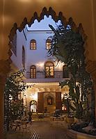 Afrique/Afrique du Nord/Maroc/Rabat: Patio du riad Oudaya