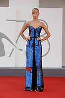 """VENICE, ITALY - SEPTEMBER 10: Frida Aasen on the red carpet for the movie """"Un Autre Monde"""" during the 78th Venice International Film Festival on September 10, 2021 in Venice, Italy.<br /> CAP/GOL<br /> ©GOL/Capital Pictures"""