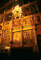 Russia Moscow famous St Basils Cathedral rare photo of priceless Icon paintings.