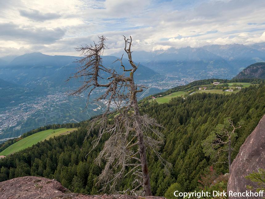 Blick vom Knottnkino bei Vöran, Region Südtirol-Bozen, Italien, Europa<br /> panorama near viewpoint Knottenkino  near Vöran, Region South Tyrol-Bolzano, Italy, Europe